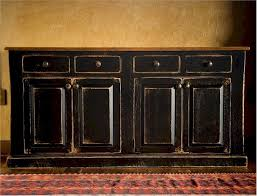 Black Dining Hutch Two Tone Painted Buffet Hutch Primarily Pine