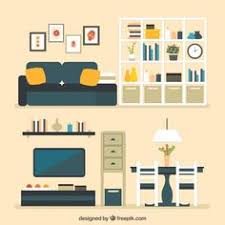 home interior vector ícones home da mobília icons free and illustrations