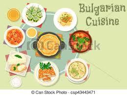 cuisine bulgare cuisine bulgare nourriture thème conception icône