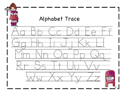 printable alphabet kindergarten kindergarten worksheets tracing alphabet lovely trace alphabet
