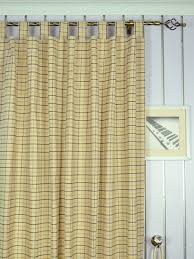 extra wide hudson small plaid tab top curtains 100 inch 120 inch