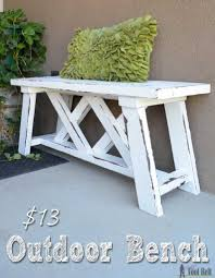 Outdoor Wooden Benches How To Build An Outdoor Bench With Free Plans