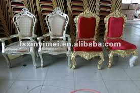 and groom chairs golden luxury king chair in classical design view golden
