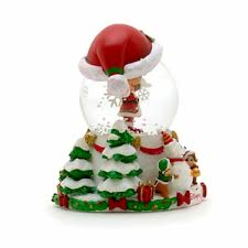 mouse chip n dale snow globe