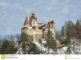 dracula s bran castle in winter season stock photo image 84121693