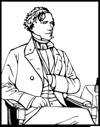 Franklin Pierce Coloring Page Purple Kitty Franklin Coloring Pages