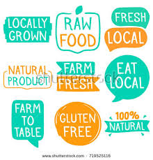 farm to table concept locally grown raw food fresh local stock vector 719525116 shutterstock