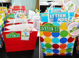 Birthday Favor Bags by Sesame Liam Is 2 Chickabug