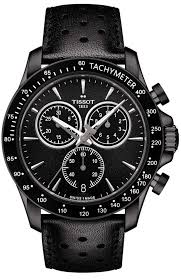 tissot watches leather bracelet images Men 39 s watch tissot t sport v8 black leather chronograph jpg