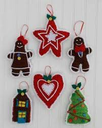 crochet сhristmas tree ornaments tree decorations door