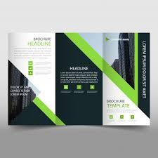 free tri fold business brochure templates modern green and black trifold business brochure template vector