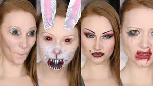 Halloween Bunny Makeup by 4 Snapchat Filters Makeup Tutorial Diy Second Set Youtube