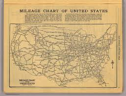 mileage map mileage chart u s david rumsey historical map collection