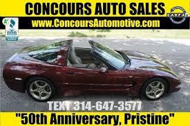 corvette 50th anniversary edition 2003 chevrolet corvette for sale carsforsale com