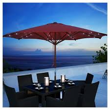 Patio Umbrellas With Led Lights Patio Umbrella With Solar Power Led Lights Corliving Target