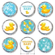 rubber ducky bubble bath baby shower stickers set of 324
