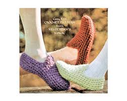 vintage crochet shoes etsy
