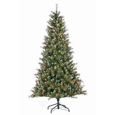 pre lit artificial christmas trees general foam 7 5 ft pre lit deluxe winter white fir artificial