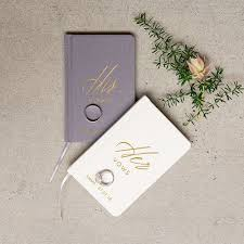 personalized wedding personalized wedding vow journal