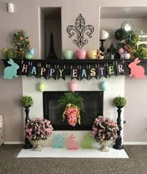 easter mantel decorations easter mantel holidays easter