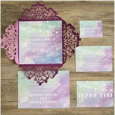 purple wedding invitations 23 pretty watercolor wedding invitations to get inspired