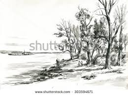 royalty free hand sketch of natural scenery 65791735 stock photo