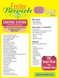 Easter Brunch Buffet Menu by Sunday Gospel Easter Brunch Sticky Lips Pit Bbq