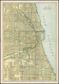 Map Of Illinois And Indiana by Map Of Chicago Showing The Main Portion Of The City Barry