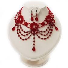red gothic necklace images Red jewellery sets jpg