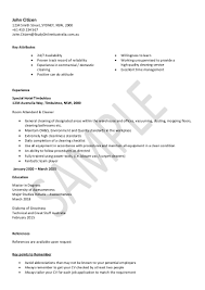 Cleaning Job Description For Resume by House Cleaning Job Resume Contegri Com