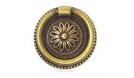 Brass Ring Pulls Cabinet Hardware by Bosetti Marella 100190 09 Antique Brass Dark Cabinet