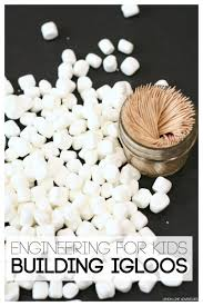 engineering for kids building igloos with marshmallows