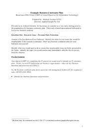 business continuity plan template for small business example business continuity plan