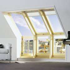 Blinds For Slanted Windows Pop Up Balcony Attic Window Transforms Into Outdoor Space
