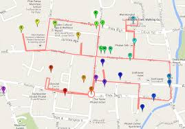 Phuket Thailand Map Phuket Town A Walking Guide To Old Phuket Streets Phuket 101