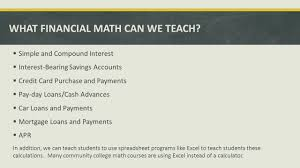 Compound Interest Calculator Spreadsheet Moving Advanced Functions And Modeling Into The 21st Century Ppt