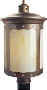 outdoor post mount lights vaxcel mission burnished bronze 15 in outdoor post light