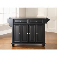 stainless steel topped kitchen islands crosley kf30002dbk cambridge stainless steel top kitchen island in