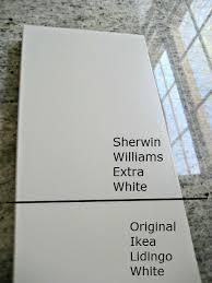 ikea lidigno white cabinet paint color match kitchen redo
