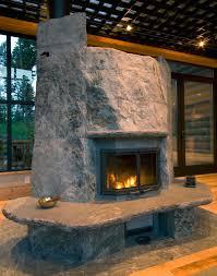 boulder style u0027 tulikivi fireplace in western montana www