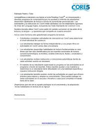 example core5 parents overview letter español lexia learning