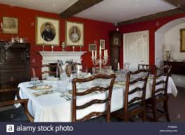 the dining room at eyam hall and craft centre derbyshire eyam