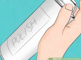 Best Polish For Kitchen Cabinets 3 Ways To Clean Wood Kitchen Cabinets Wikihow