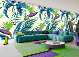 add a touch of the tropics to your home for summer variety of colors in this tropical print wallpaper