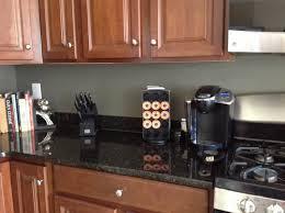 gray kitchen walls with oak cabinets backsplash help