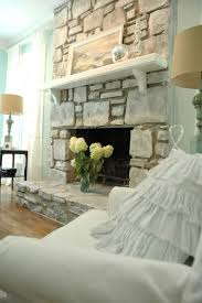 Shabby Chic Fireplace by Best 10 Painted Stone Fireplace Ideas On Pinterest Painted Rock