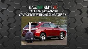 lexus rx330 key shell replacement how to replace lexus rx key fob battery 2007 2008 2009 2010 youtube