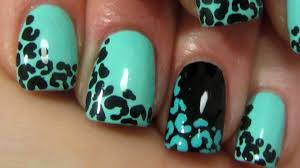 very fast and easy leopard print design for beginners in mint and