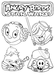 angry birds star wars main characters coloring pages batch coloring