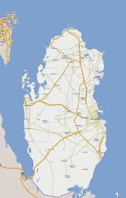 map in road maps of qatar detailed map of qatar in tourist map of
